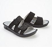 Alegria Leather Adjustable Slide Sandals - Stella - A352764