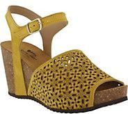 Spring Step Suede Wedge Sandals - Lauralyn - A356664