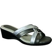 David Tate Leather Slide Sandals - Verona - A357764