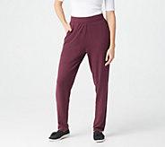 Denim & Co. Active Petite Heavenly Jersey Straight Leg Pants - A373264