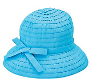 San Diego Hat Co. Ribbon Braid Bucket Hat withAdjustable Tie - A412564