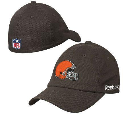 NFL Cleveland Browns Flex Sideline Slouch Hat — QVC.com 72fcd2263593