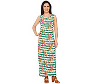 Liz Claiborne New York Regular Floral Stripe Maxi Dress - A262965