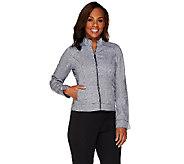 Liz Claiborne New York Herringbone Zip Front Jacket - A266165