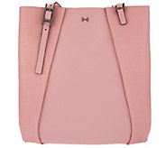 H by Halston Saffiano & Smooth Leather Shoulder Tote Bag - A274065