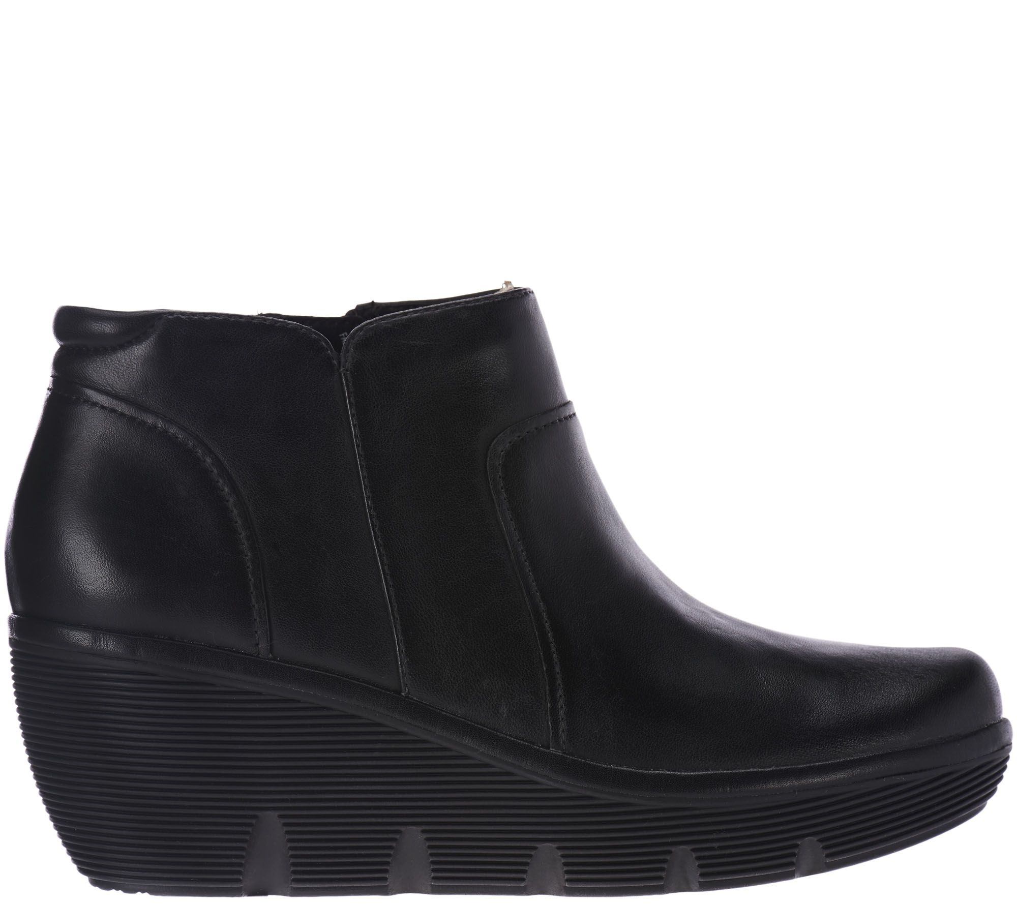 370ae7a8361 Clarks Artisan Leather Wedge Ankle Boots - - Clarene Sun - Page 1 — QVC.com
