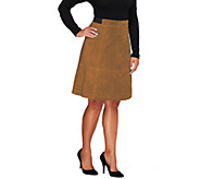 As Is Liz Claiborne New York Hepburn Suede Skirt - A286665