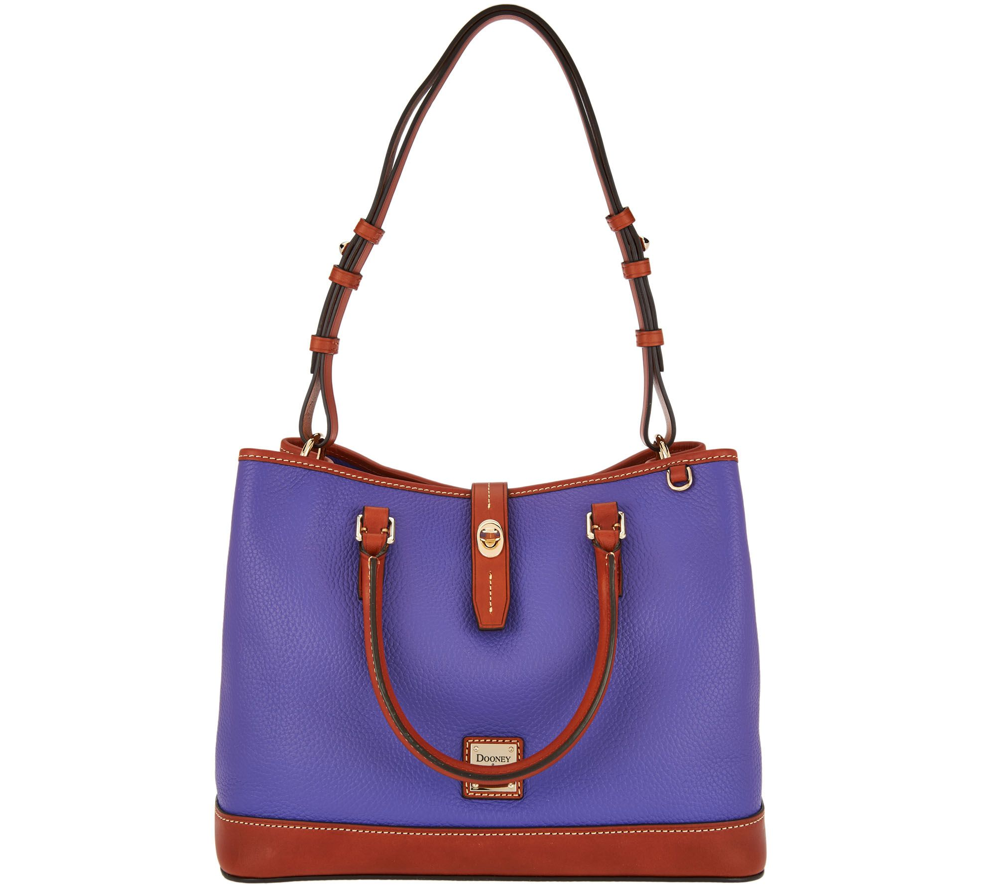 As Is Dooney Bourke Pebble Leather Perry Satchel Page 1 Qvc
