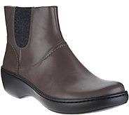 Clarks Leather Lightweight Ankle Boots w/ Knit Panels - Delana Joleen - A297765