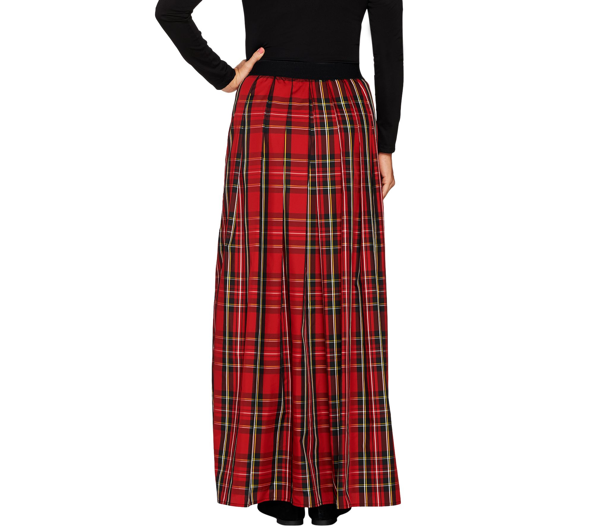 a9fcb591d481d Joan Rivers Regular Length Holiday Plaid Maxi Skirt - Page 1 — QVC.com