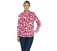 Kelly by Clinton Kelly Floral Printed Woven Shirt  w/ Slit Detail - A304765