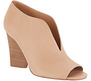 Vince Camuto Leather Deep V Peep-toe Booties - Andrita - A310565