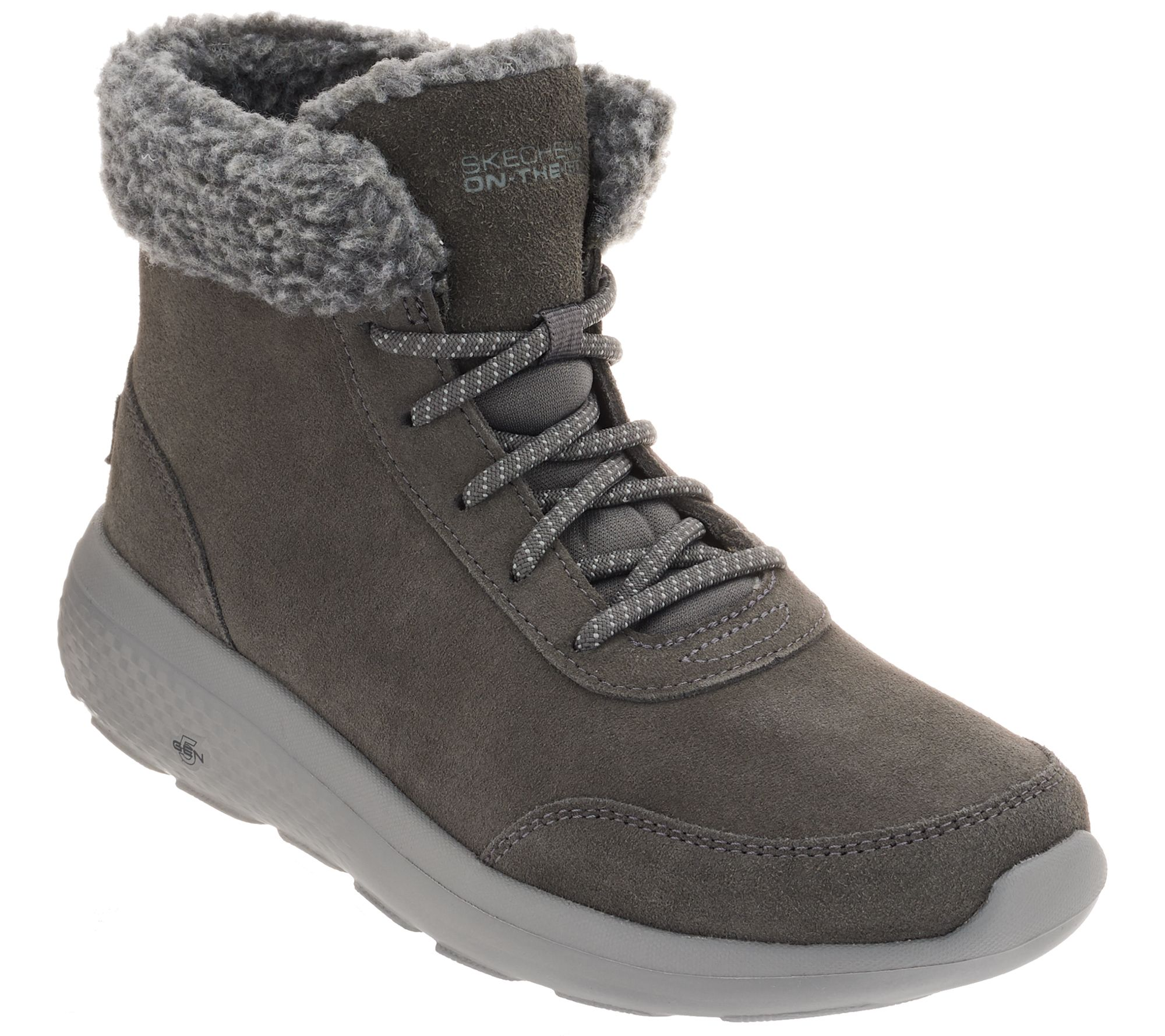 Skechers On the GO Lace Up Suede Boots City 2 Frostie —
