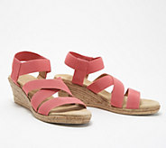 Charleston Shoe Co. Stretch Wedge Sandals - X Strap Cannon - A351165