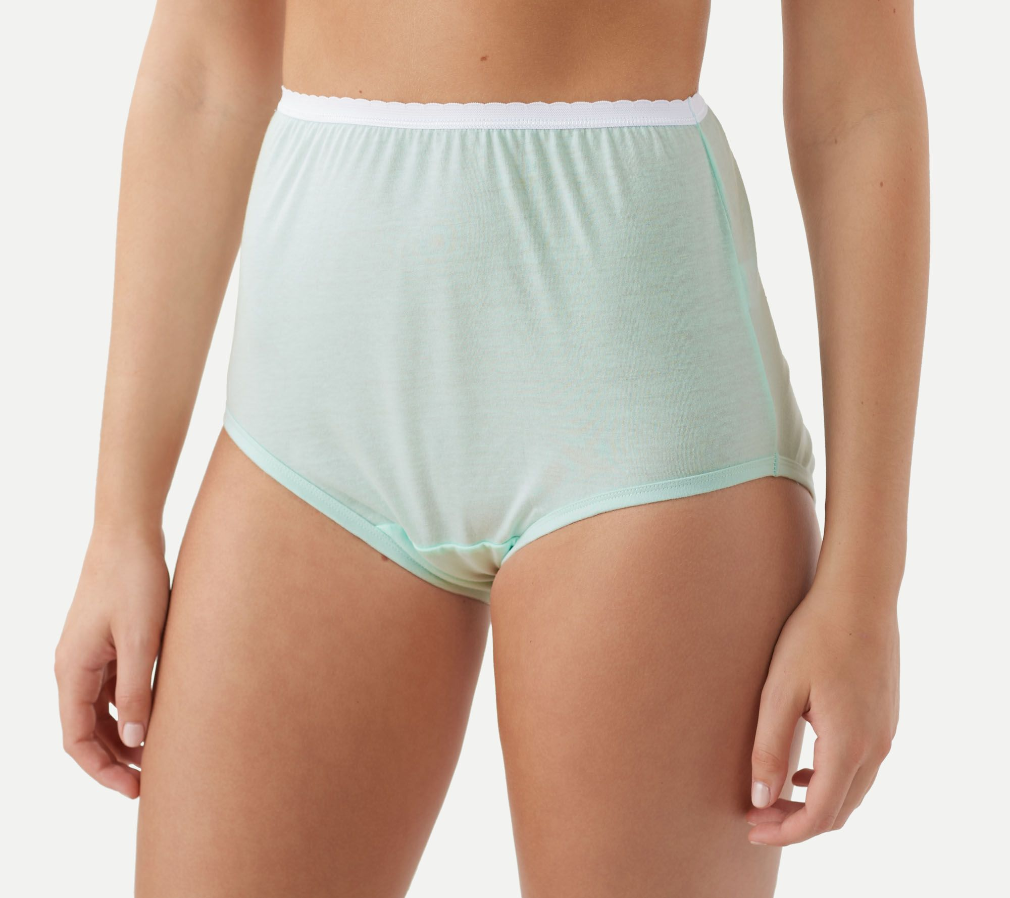 Breezies Set 6 Cotton Brief Panties UltimAir Basic 9 NEW A22766