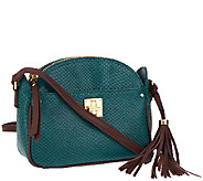 Isaac Mizrahi Live! Bridgehampton Leather Snake Crossbody - A258766