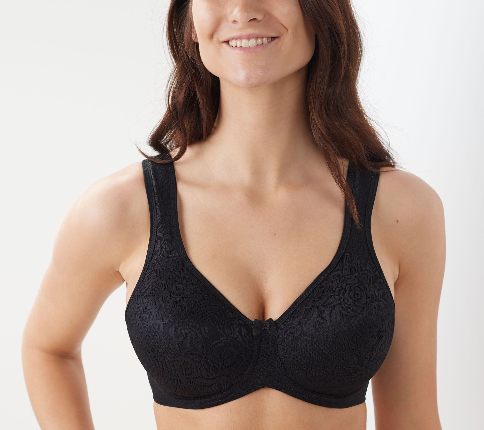 7a8bb696636 Breezies Wild Rose Lace Seamless Underwire Bra - Page 1 — QVC.com