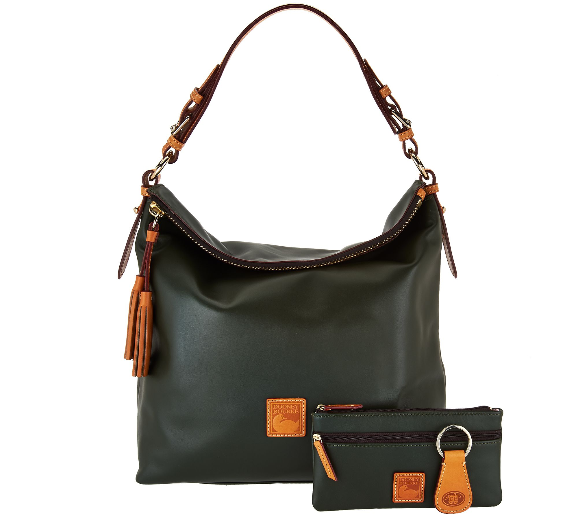 7bd7265c15 Dooney   Bourke Smooth Leather Hobo with Accessories - Page 1 — QVC.com
