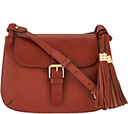 Isaac Mizrahi Live! Bridgehampton Pebble Leather Crossbody - A280966