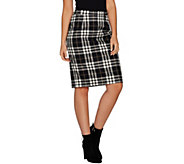 Joan Rivers Tartan Plaid Slim Skirt - A298266