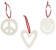 Peace Love World Signature Symbol Ornaments - A299066