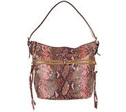 Aimee Kestenberg Leather Bucket Hobo Handbag- Devan - A300266