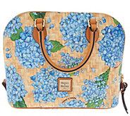 Dooney & Bourke Hydrangea Basket Weave Zip Zip Satchel Handbag - A309166