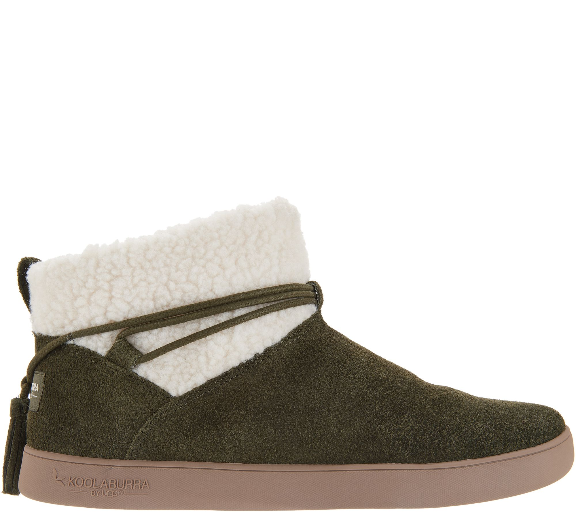 4568cd90a13 Koolaburra by UGG Faux Fur Ankle Boots with Tie - Isana — QVC.com