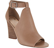Vince Camuto Leather Peep-Toe Booties - Adaren - A310566