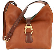As Is Dooney & Bourke Florentine Crossbody Hobo Handbag-Derby - A346466