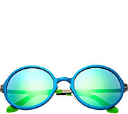Breed Corvus Blue Aluminium Sunglasses w/ Polarized Lenses - A361266