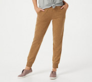 Denim & Co. Active Petite Brushed Heavenly Jersey Jogger Pants - A388266