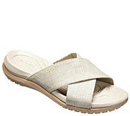Crocs Slide Sandals - Capri Shimmer Xband - A413166