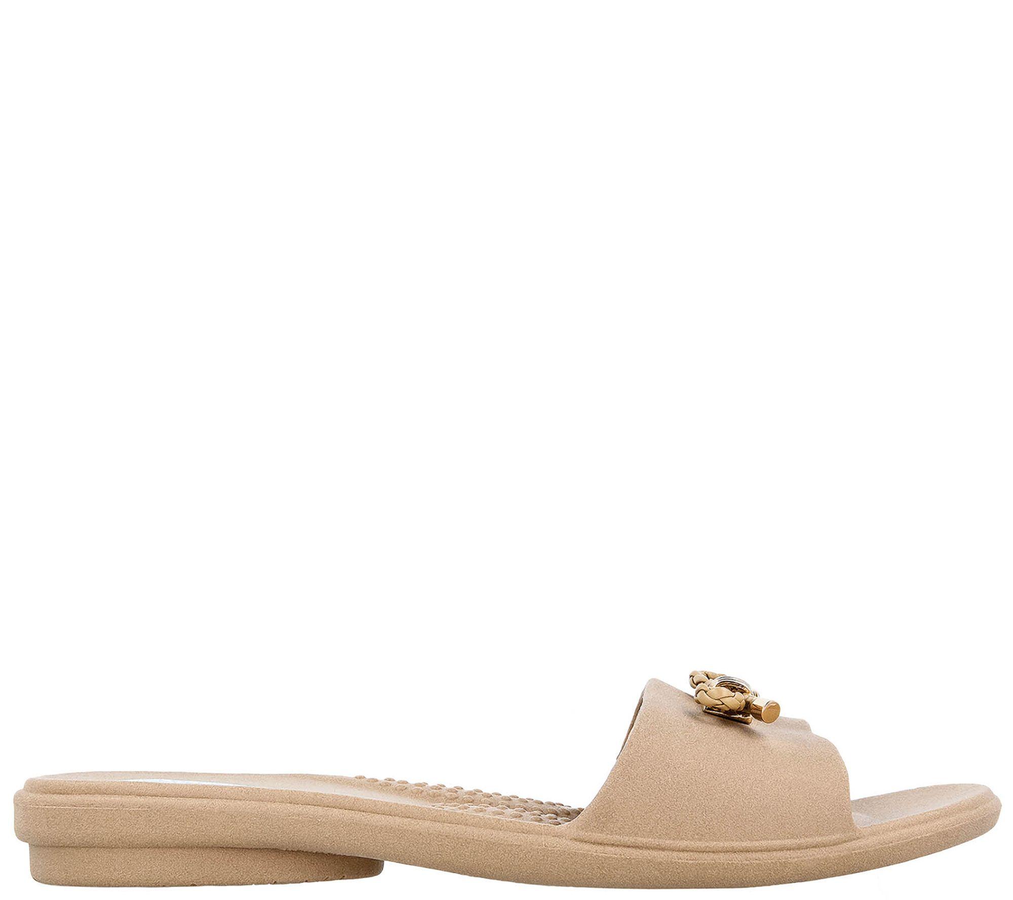 443c080345808 Oka B Rope Bow Slide Sandals - Pauline — QVC.com