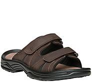 Propet Mens Adjustable Strap Leather Slide Sandals - Vero - A423766
