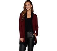 Susan Graver Melange Sweater Knit Open Front Cardigan - A281167