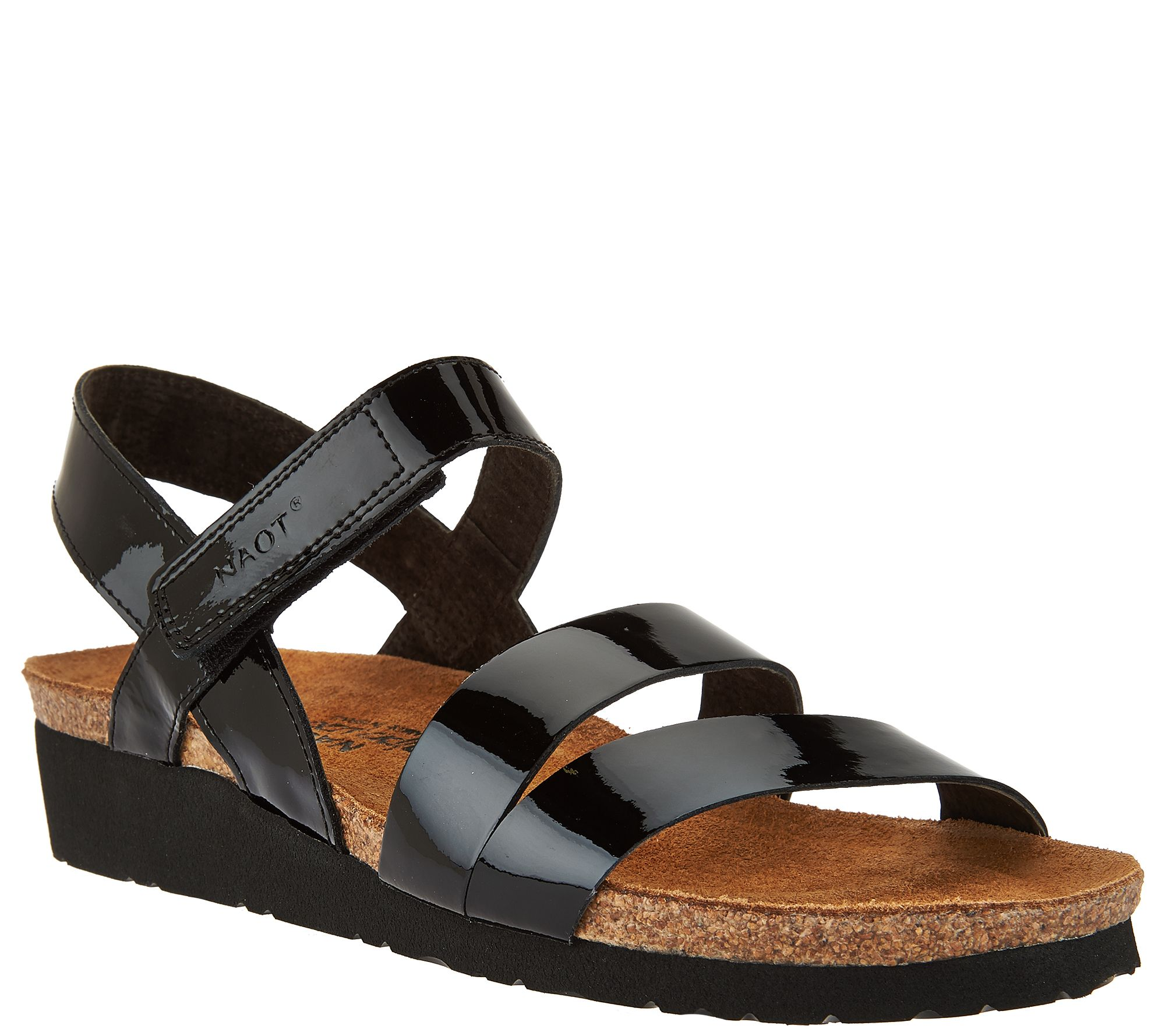 330216500600 Naot Leather Cross-strap Sandals - Kayla - Page 1 — QVC.com