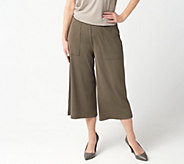 Lisa Rinna Collection Pull-On Knit Culotte Pants - A292267