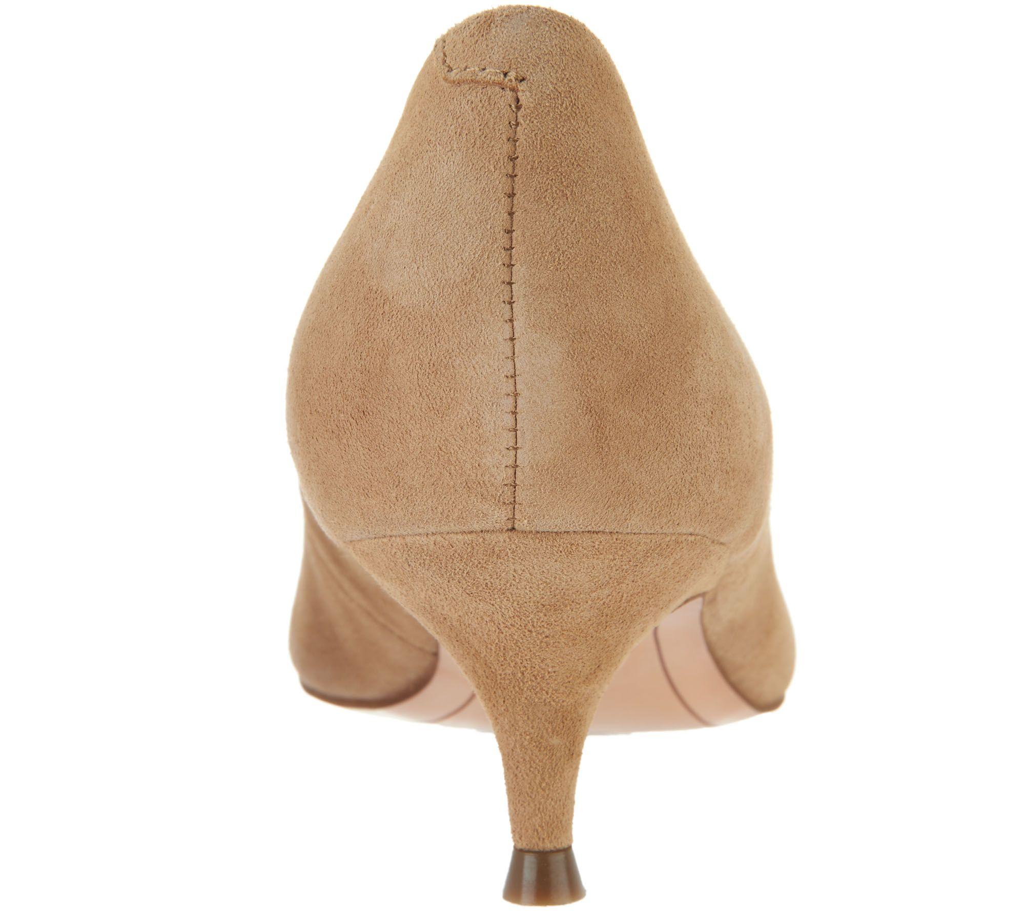 1674147d157f Vionic Leather Kitten Heel Pumps - Josie - Page 1 — QVC.com