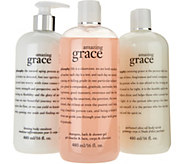 philosophy graceful bath trio of fragranced body care - A294167