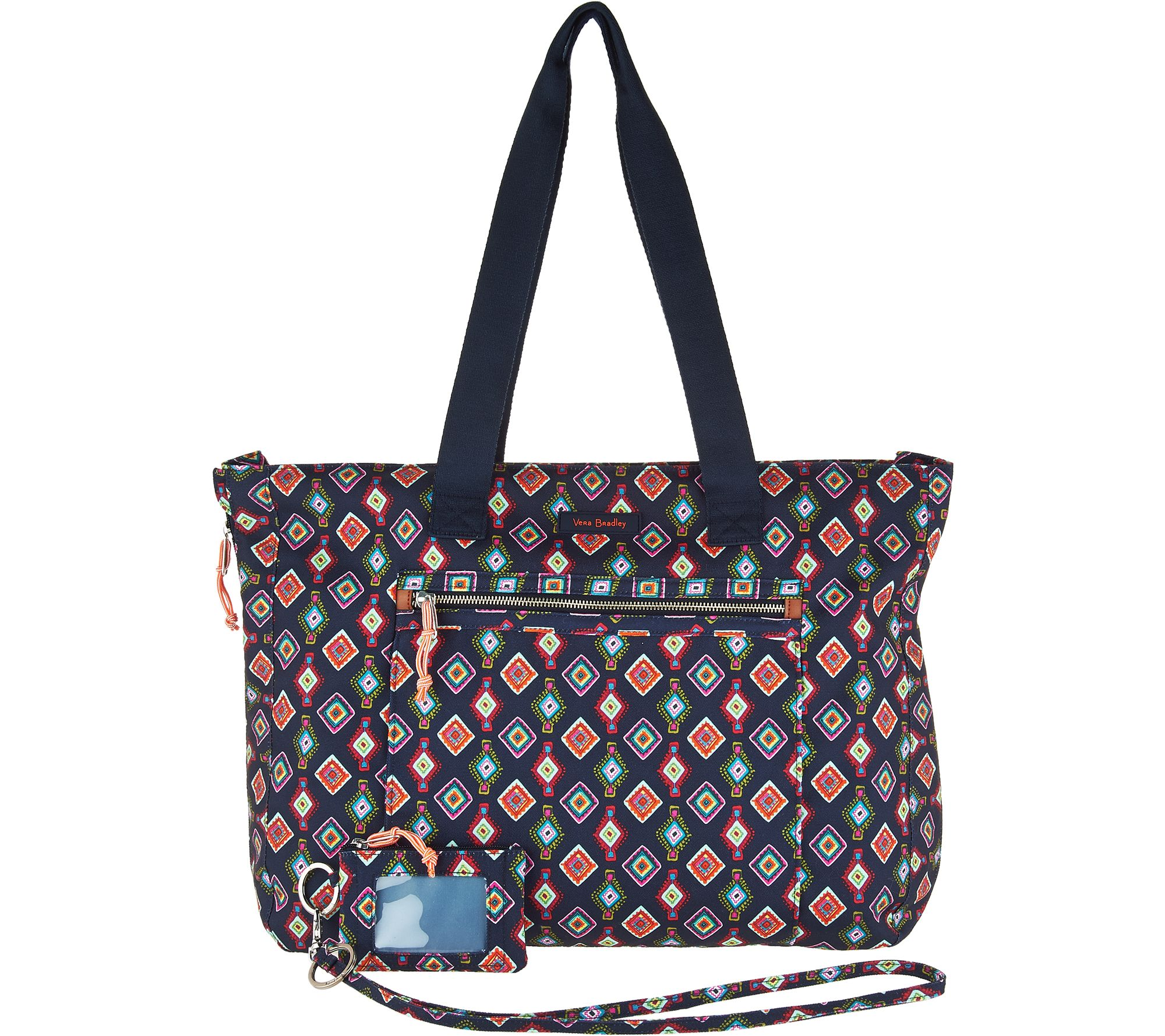 052117dee9 Vera Bradley Lighten Up Expandable Tote with ID Case and Lanyard - Page 1 —  QVC.com