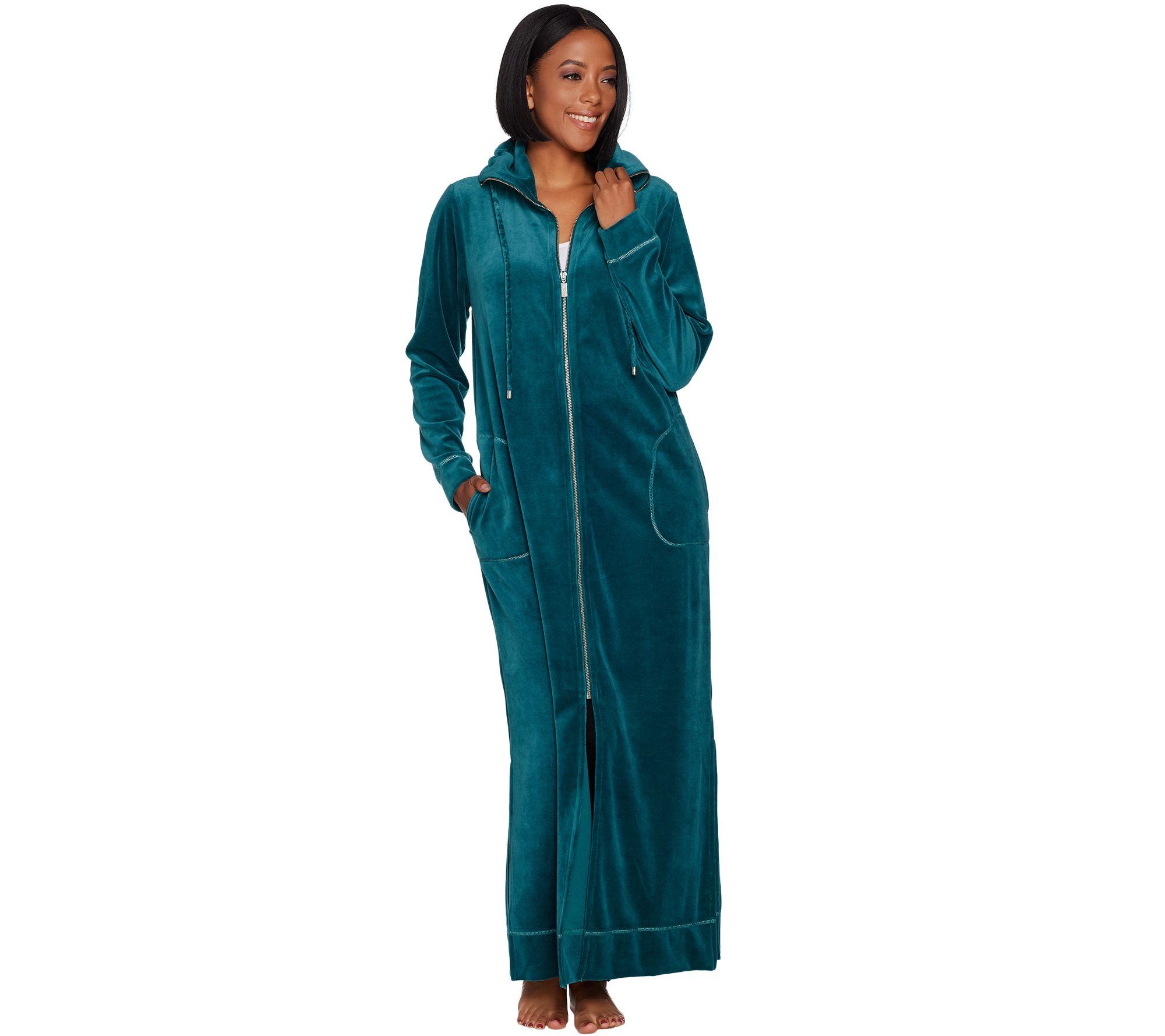 Bob Mackie Knit Velour Zip Front Robe - Page 1 — QVC.com cd9a1bdbd
