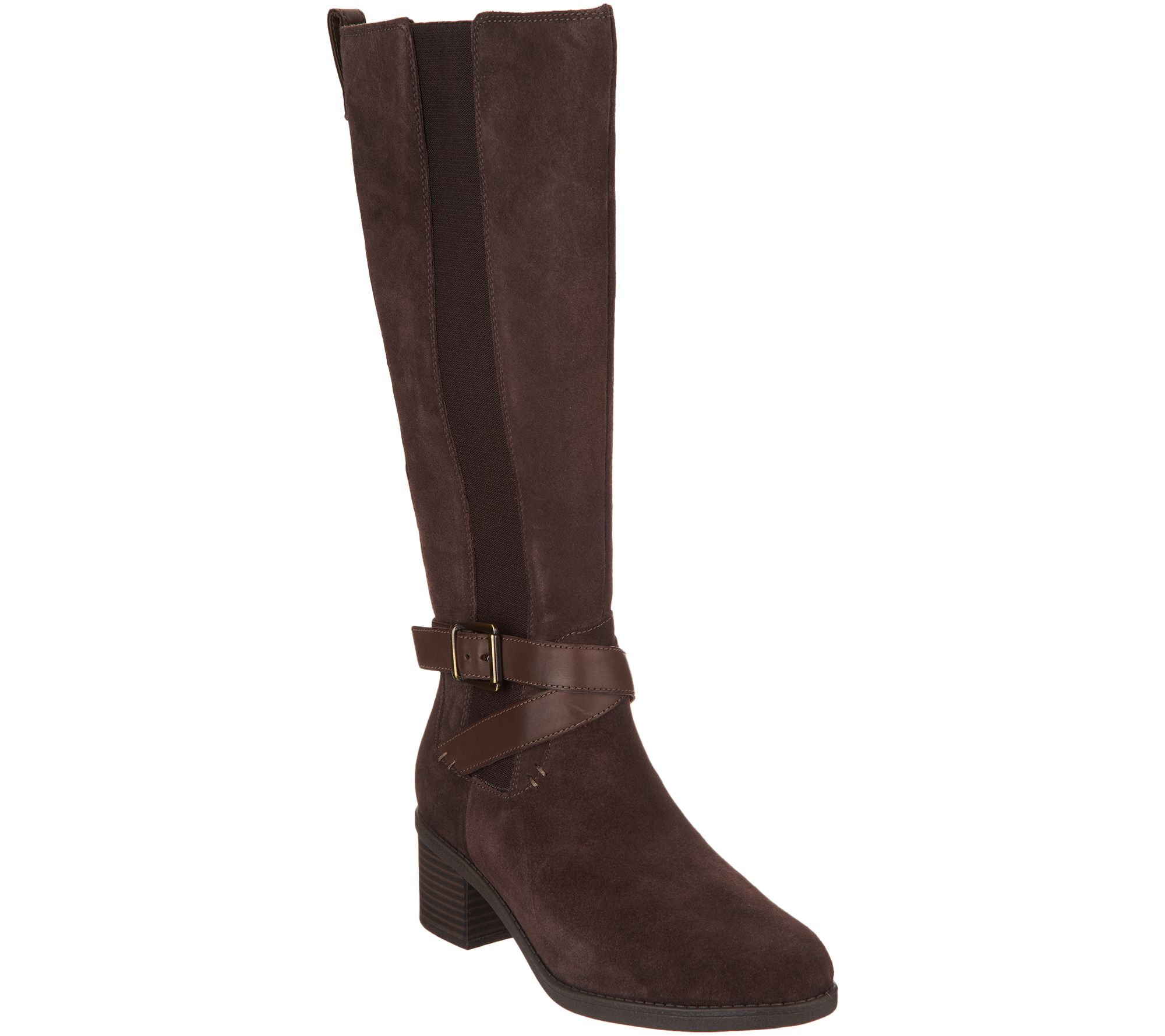 Clarks Leather Tall Boots with Goring - Nevella March how much visit new sale online SIMohsEbFB