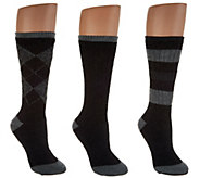 Catawba Set of 3 Merino Wool Blend Socks with Gift Box - A300467
