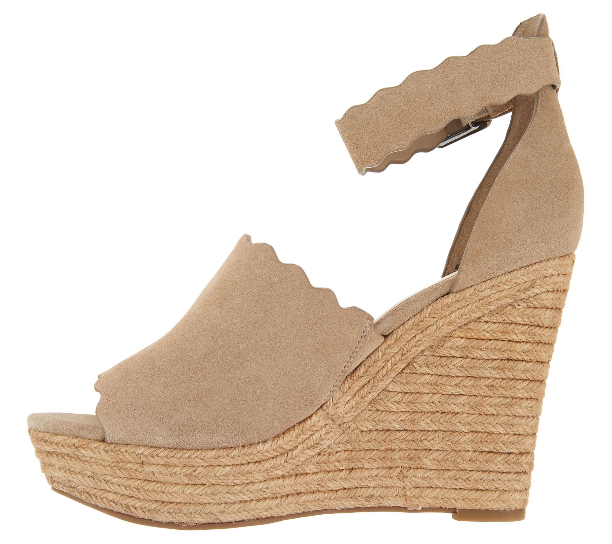 982c664d9e6 Marc Fisher Suede Ankle Strap Espadrille Wedge - Haya - Page 1 — QVC.com