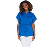 Joan Rivers Caftan Style Button Front Shirt - A306767