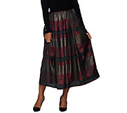 Joan Rivers Regular Glamorous Plaid Midi Skirt - A307367