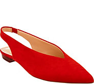 Vince Camuto Suede or Leather Slingback Flats - Maltida - A309467