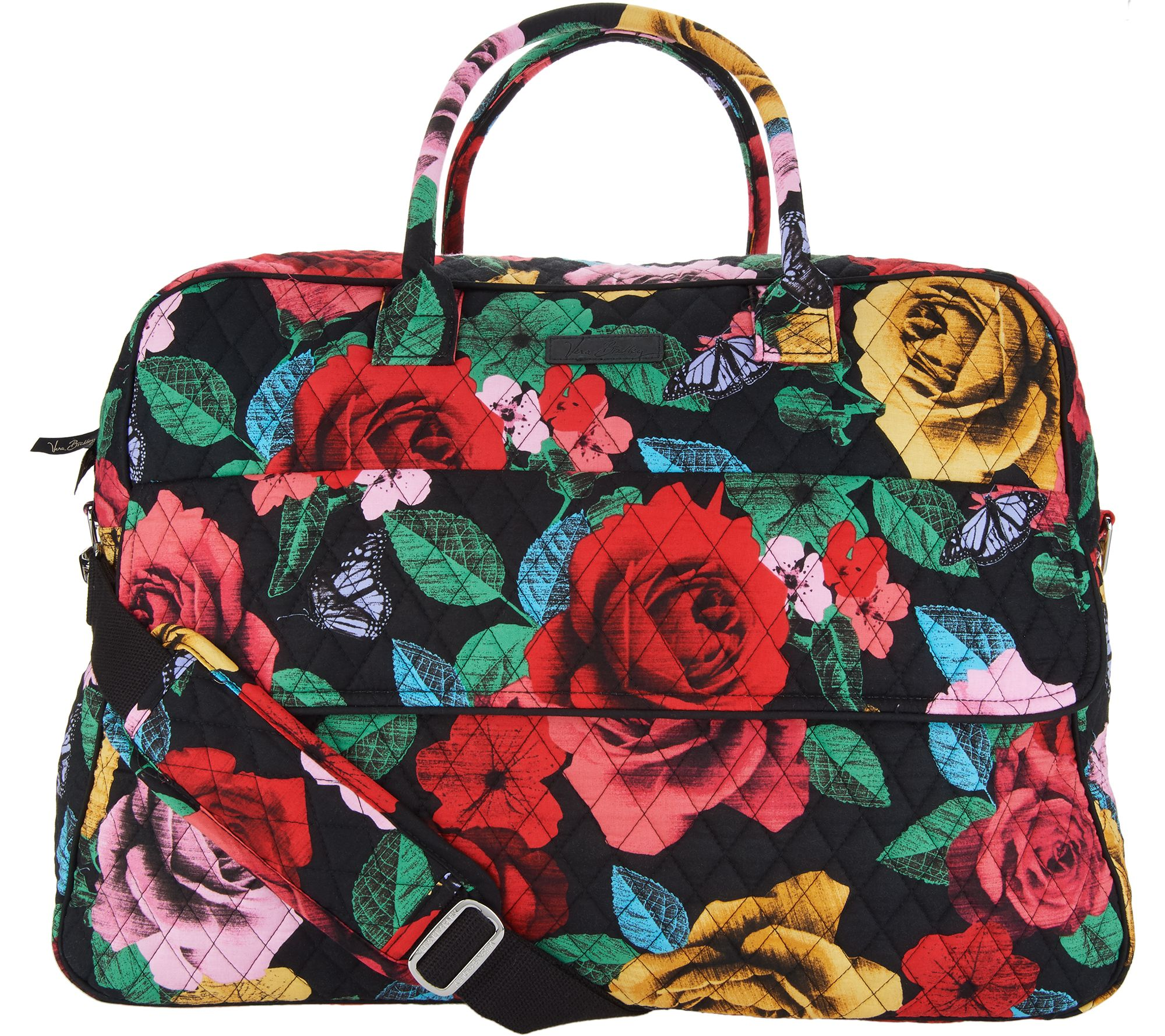 f55f95161558 Vera Bradley Signature Print Grand Traveler Travel Bag - Page 1 — QVC.com