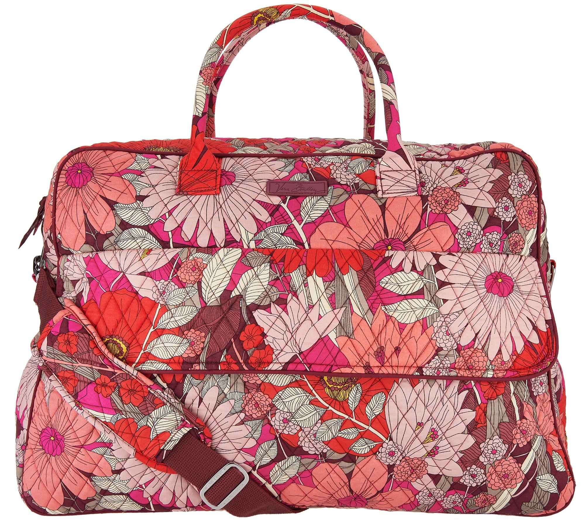 Vera Bradley Signature Print Grand Traveler Travel Bag Qvc Com